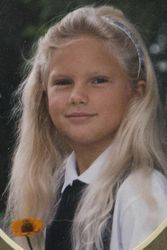 Taylor in third or fourth grade