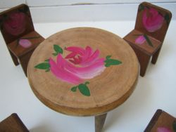 Close-up of the rose on the table...