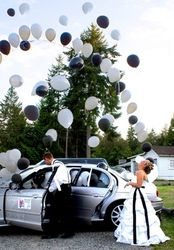 Balloons Coming Out of Limo