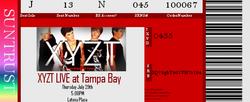 Concert Ticket - Tampa Bay
