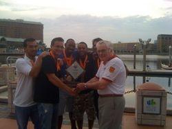 Titans Men Receiving the Trophy