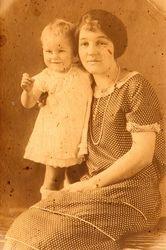 Alice (Hearn) Croyle, with son, Samuel Blair