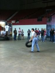 Frances Olson in Tire Toss