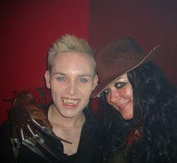 Krueger face and Vampy Vamperson