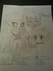 Blaze, Milo, and Tessa.