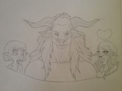 Erisma, Nieve, and soon-to-be-hubby minotaur.