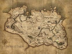 Map of where Erisma and Ebony live in Skyrim.
