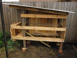 Chook house in the making thanks to Stephen