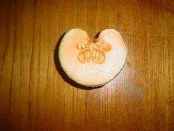 rock melon Jacob and I grew, gotta luv the shape ♥