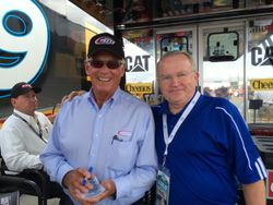 Dale Inman and I at Charlotte, October 2013