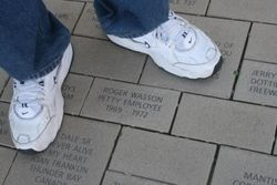 My brick on the Walk at the Hall of Fame