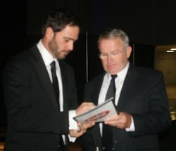 Jimmie Johnson signing program at Hall of Fame