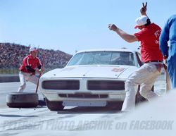 Me on the jack, Chief telling Buddy Baker to go.