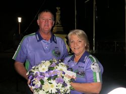 Brenda and Bill with the wreath