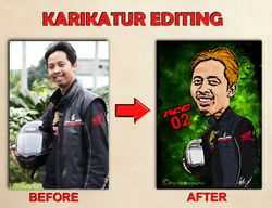 Karikatur Editing