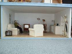 Basement flat living area
