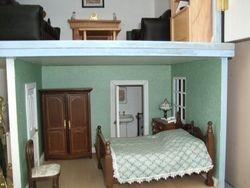 Basement flat bedroom and bathroom