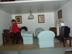 Closer view of living room