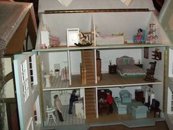 Overall view of interior including attic.