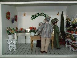 Interior of florist