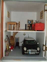 Garage and hobby room