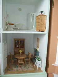 Dining room and bathroom