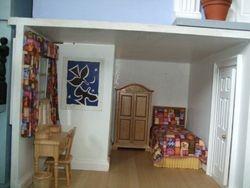 Bedroom of basement flat