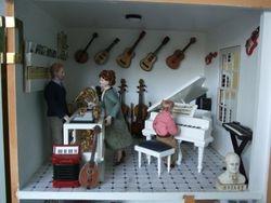 Musical instrument an sheet music department.