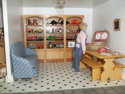 Rearranged playroom