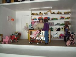 Downstairs of shop
