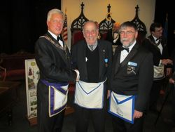 Visit to Charlton with 18th Masonic District