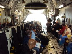 Loading of the C-17 A at Osan AFB Korea