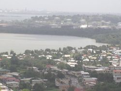 View from Sanfernando Hill in Southern Trinidad