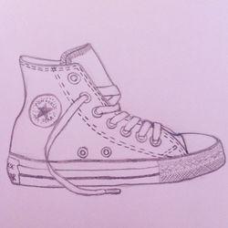 Converse High sketch