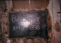 Bill Berger- Plack At Shinnston