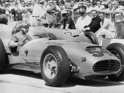 Fangio drives Kurtis 500G Novi in 1958