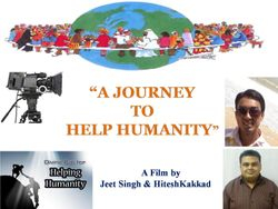 """ A Journey to Help Humanity ! """