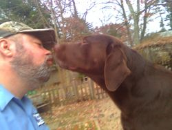 Dad & Mr. Grizzly