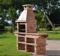 Brick and Stone BBQ station