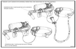 arm mounted cannon details