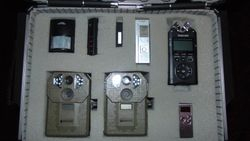 Motion detectors, digital voice recorders, Remoter night vision cams