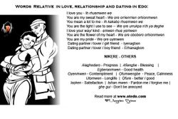 Words in Love and Relationship