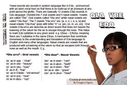 Vowels in Edo