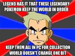 Legendary Pokemon don't keep the world in order