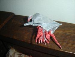 Origami hermit crab