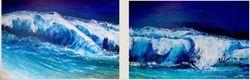 Waves Gone Wild Diptych