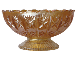 Diamond Cut, dome footed bowl