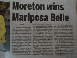Moreton Mariposa Belle winner