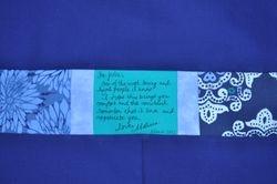 Julie's Quilt ~ Label