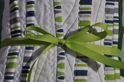 Sea Glass Quilt ~ bound and ready to mail